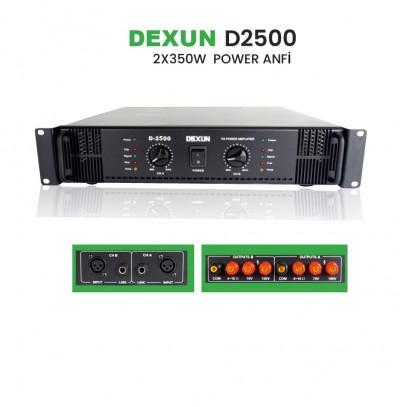 Dexun D 2500 Trafolu Power Amplifikatör