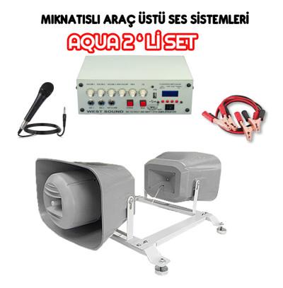 Dmm Aqua 2li Set Mıknatıslı Araç Üstü Ses Sistemi (16 CM)