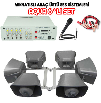 Dmm Aqua 6lı Set Mıknatıslı Araç Üstü Ses Sistemi (20 CM)