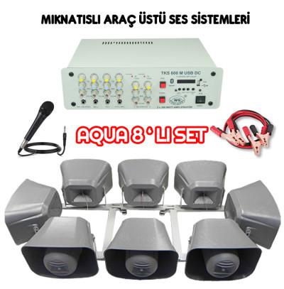 Dmm Aqua 8li Set Mıknatıslı Araç Üstü Ses Sistemi(20 CM)