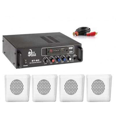 Dmm İşyeri Ses Sistemi 19 Amfi ve Sütun Hoparlörü Seti