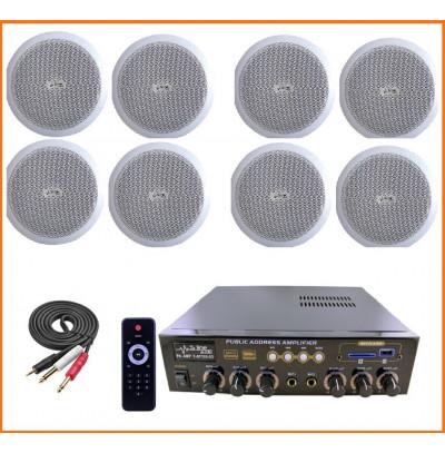 Dmm İşyeri Ses Sistemi 20 Amfi ve Tavan Hoparlörü Seti