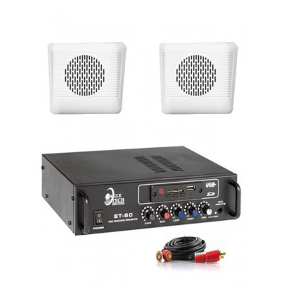 Dmm İşyeri Ses Sistemi 21 Amfi ve Duvar Hoparlörü Seti