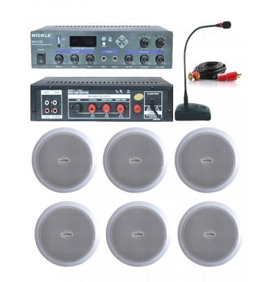Dmm İşyeri Ses Sistemi 22 Amfi ve Tavan Hoparlörü Seti