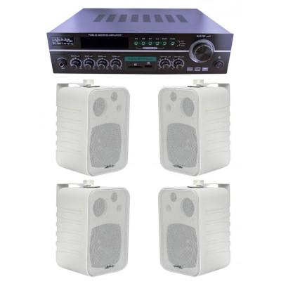 Dmm İşyeri Ses Sistemi 23 Amfi ve Sütun Hoparlörü Seti