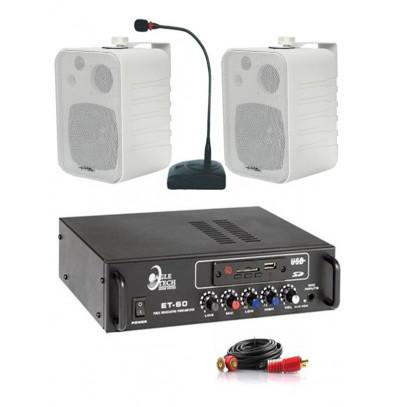 Dmm İşyeri Ses Sistemi 24 Amfi ve Sütun Hoparlörü Seti