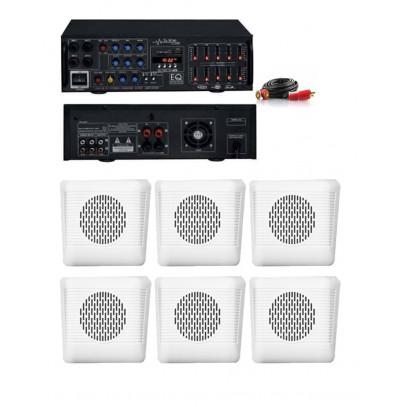 Dmm İşyeri Ses Sistemi 26 Amfi ve Sütun Hoparlörü Seti