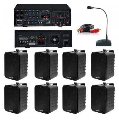 Dmm İşyeri Ses Sistemi 27 Amfi ve Sütun Hoparlörü Seti