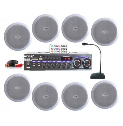 Dmm İşyeri Ses Sistemi 30 Amfi ve Tavan Hoparlörü Seti