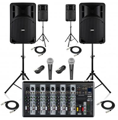DMM Okul Ses Sistemi Paket-7 Okul Tören Ses Sistemi Seti(AKTİF SİSTEM)