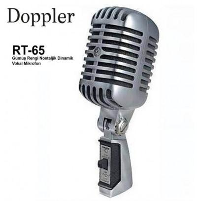 Doppler Rt65 Nostaljik Mikrofon Gri veya Sarı Renk