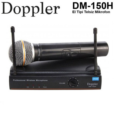 Doppler Dm150H El Tipi Telsiz Kablosuz Mikrofon