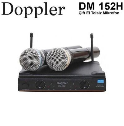 Doppler Dm152H Çift El Tipi Telsiz Kablosuz Mikrofon