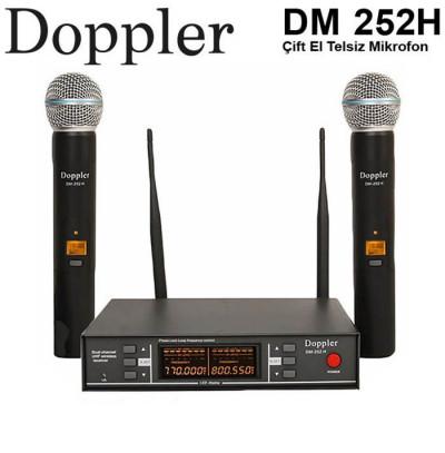 Doppler Dm252H Çift El Tipi Telsiz Kablosuz Mikrofon