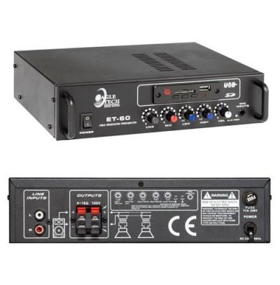 Eagletech ET 60 Usb li Amfi 60 Watt 100V