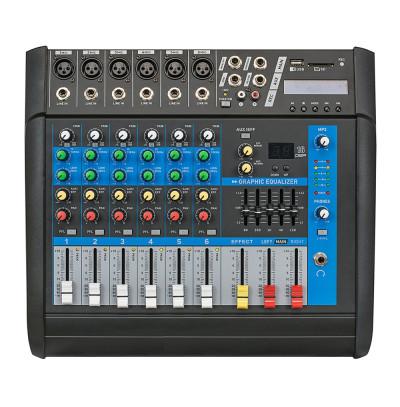 Globe Acoustic GPM506 Power Mikser Amfi 2x250W 6 Kanal Dsp Efekt EQ Usb