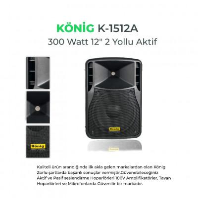 Konig K-1510A Aktif Hoparlör