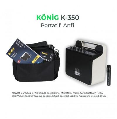 König K-350 Portatif Amfi