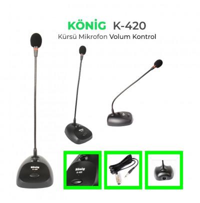 König K-420 Masa Üstü Mikrofon Ses Kontrol