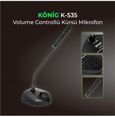 König K-535 Kablosuz Masa Üstü Kürsü Mikrofonu