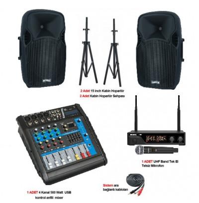 Tiyatro salonu ses sistemi paket 3