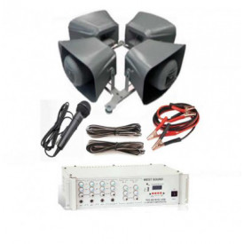 Araç Üstü Mıknatıslı Ses Sistemi 4 Hoparlör