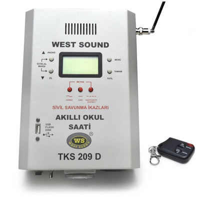 West Sound Tks 209 D V2 Programlanabilir Zil Saati