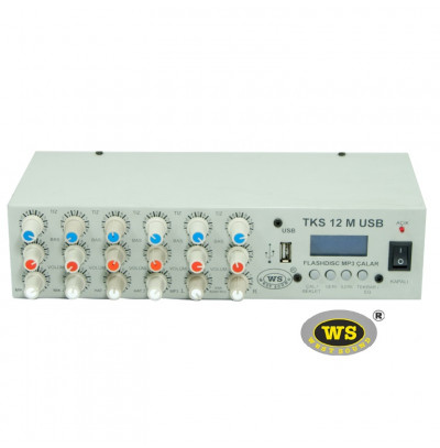 West Sound Tks 12M Usb Araç Üstü Ses Sistemi Amfisi