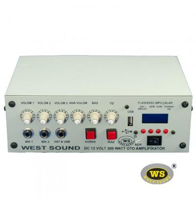 West Sound Tks 200M USB Araç Üstü Ses Sistemi Amfisi