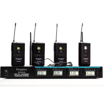 Doppler Dm 400b 4 lü Yaka Telsiz Mikrofon Seti