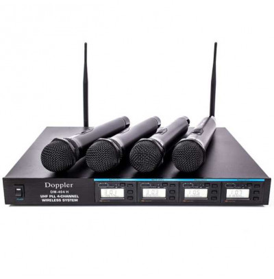 Doppler Dm 400h 4 lü El Telsiz Mİkrofon Seti