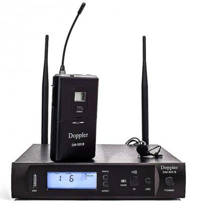 Doppler Dm 500b Tekli Yaka Telsiz Mikrofon Seti