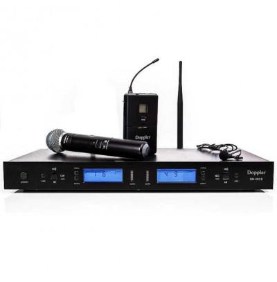 Doppler Dm 502hb Tek El Tek Yaka Telsiz Mikrofon Seti